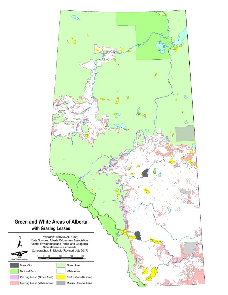 Alberta Public Land Map Public Lands   Alberta Wilderness Association