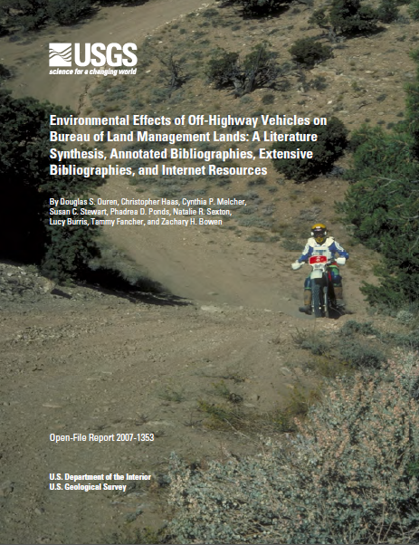 Environmental Effects of Off-Highway Vehicles on Bureau of Land Management Lands