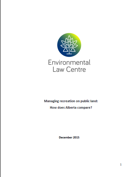 Managing Recreation on Public Land : How does Alberta Compare?