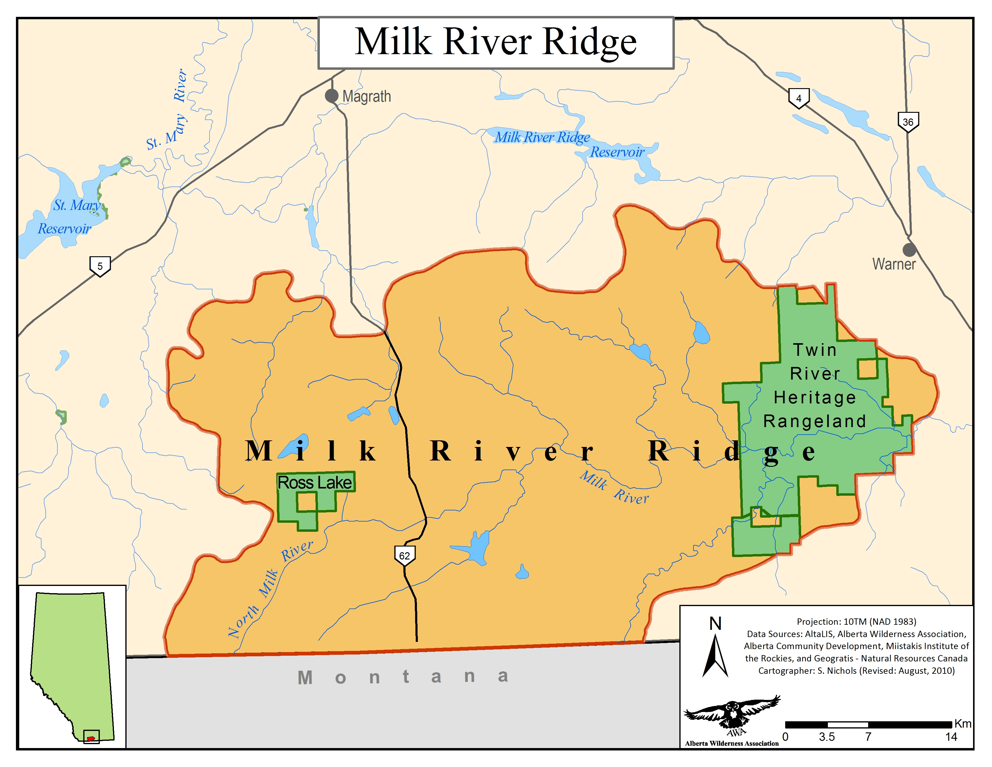 Milk River Ridge Alberta Wilderness Association