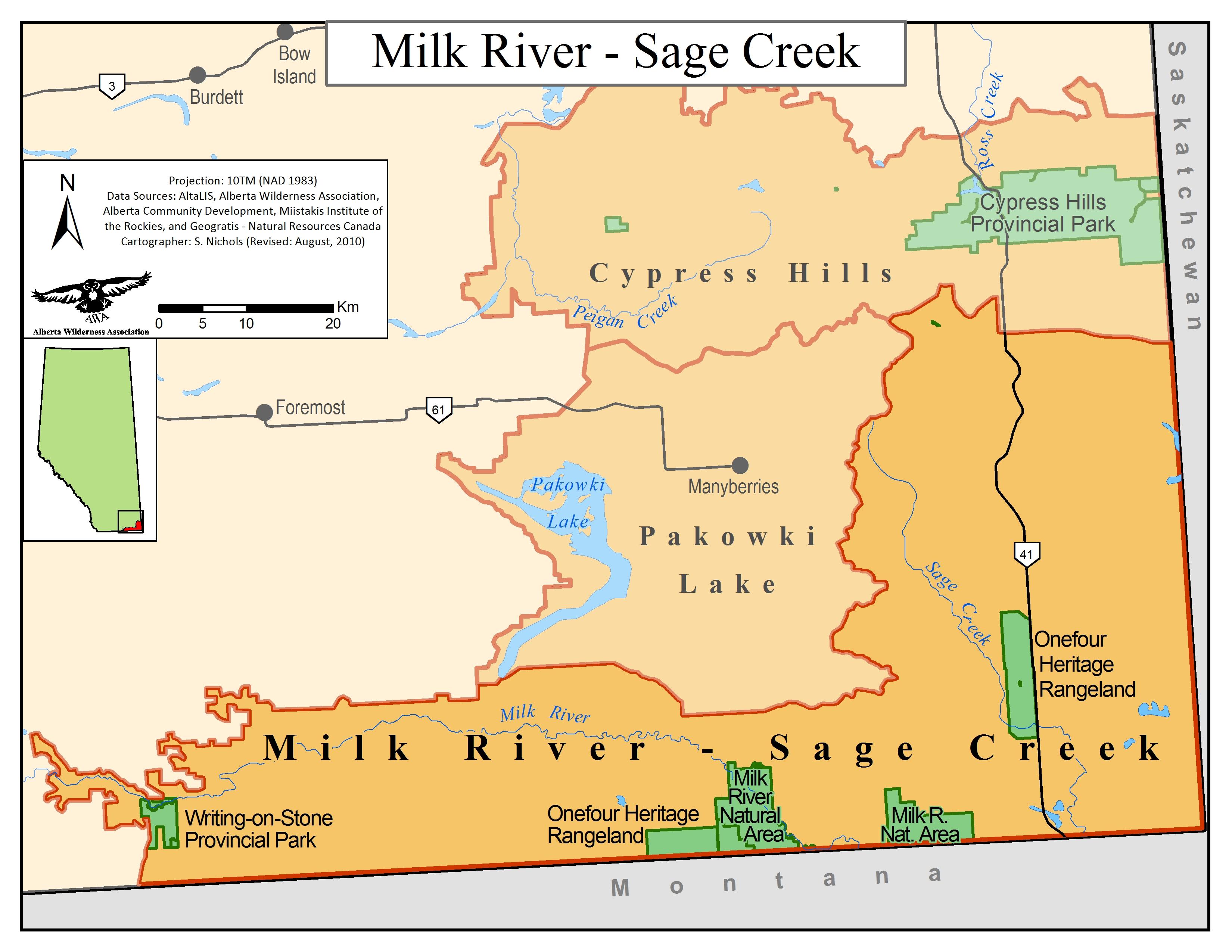 Milk River Sage Creek Alberta Wilderness Association