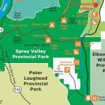 Excerpt from Alberta government 2004 map of Spray Valley Provincial Park.