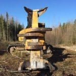 Feller buncher, northern Alberta, 2017. Photo: Alberta Wilderness Association.
