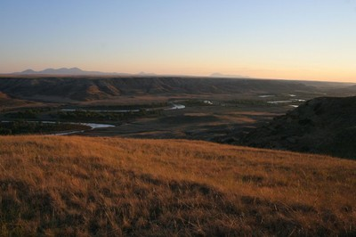 Sunset over Milk River Canyon