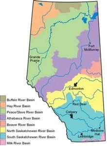 Watersheds of Alberta