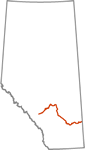 Red Deer River Map Icon
