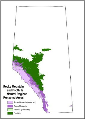 Rocky Mountain and Foothills NRs with Protected Areas